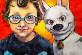 صور : أم ترسم لوحات فنية لأبنائها على ورق منديل الطعام !