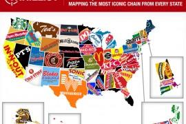 صورة : موقع أشهر المطاعم الأمريكية حسب الولايات على الخريطة !