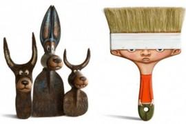 صور : فنان يحول أدوات البناء وغيرها إلى شخصيات مرسومة