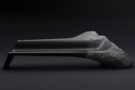 صور / فيديو : كنبة ( قنفة ) غالية جداً مصنوعة من قطعة صخرية بركانية وكاربون فايبر