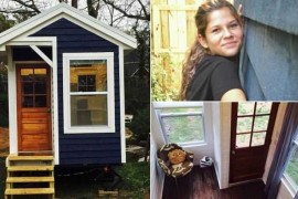صور / فيديو : فتاة عمرها 14 عام تبني بيت صغير بمساحة 39 متر مربع