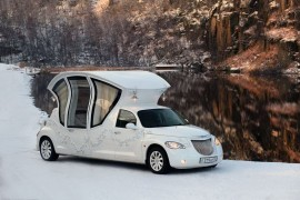 صور : سيارة ليموزين تشبه عربة سندريلا وأميرات ديزني