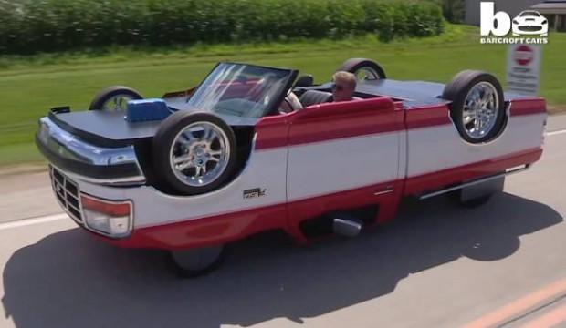 فيديو : امريكي يصمم سيارة تسير وهي مقلوبة !