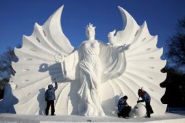 صور : مهرجان النحت على الثلج في الصين