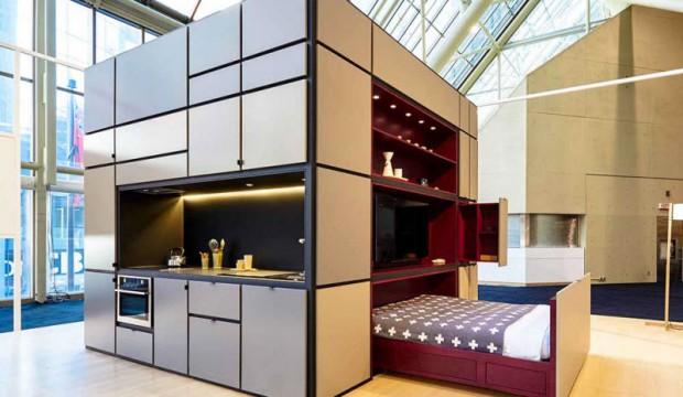 صور : منزل عصري متكامل في مكعب حجمه 3X3X3