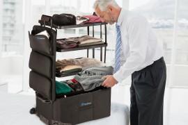 صور / فيديو : ابتكار حقيبة سفر تتحول إلى أرفف للملابس