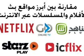 مقارنة بين أبرز مواقع بث الأفلام والمسلسلات الرسمية عبر الانترنت